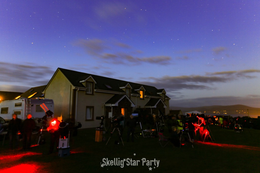 Setting up the scopes at Skellig Lodge